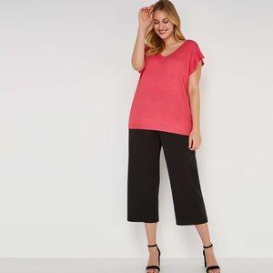 NEW Joe Fresh Women's Ruffle Short Sleeve Sweater
